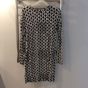 Black and white long sleeve Michael Kors dress